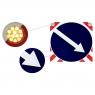 СВЕТОДИОДНЫЙ ЗНАК «ОБЪЕЗД СПРАВА» на щите